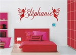 Custom Name Fairies Wall Decals