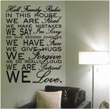 Custom Name Family Rules Wall Decals