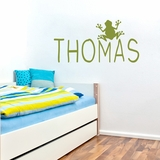 Custom Name With Frog - Wall Decals