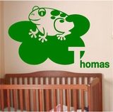 Custom Name Frogs Wall Decals