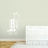 Custom Giraffe Name - Wall Decals