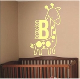 Custom Name Giraffe | Wall Decals