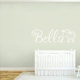Custom Name with Sheep - Wall Decals