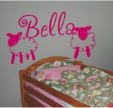 Custom Name Lamb Wall Decals