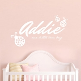 Custom Name Love Bug - Wall Decals