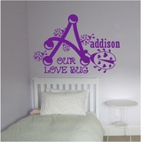 Custom Name Our Love Bug Wall Decals