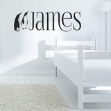 Custom Name with Penguins - Wall Decals