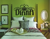 Custom Name Princess Crown | Wall Decals