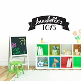 Custom Name Toys - Wall Decals