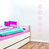 Custom Name Vertical Flower Petals - Wall Decals