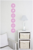 Custom Name Vertical Flower Petals | Wall Decals