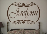 Custom Name With Border Wall Decals