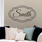Custom Name with Double Frame - Wall Decals