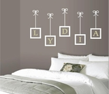 Custom Name with Hanging Frames Wall Decals