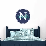Circle Monogram - Wall Decals