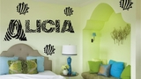 Custom Name | Zebra Print | Wall Decals