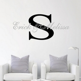 Custom Names with Monogram - Wall Decals