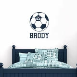 Custom Soccer Ball - Wall Decals