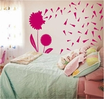 Dandelions with Seeds Wall Decals
