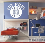 EAT PRAY LOVE BASKETBALL Vinyl Wall Decals