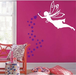 Fairy with Wand and Stars | Wall Decals