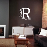 Family Name Monogram Est. Year - Wall Decals