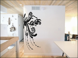 Flourish Design Out From Corner Wall Decals