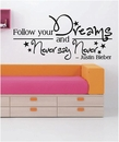 Follow Your Dreams - Justin Bieber | Wall Decals