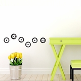 Cirlce Flower Shapes - Wall Decals