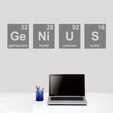 GENIUS Periodic Table - Wall Decals