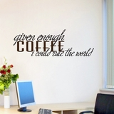Given Enough Coffee - Wall Decals