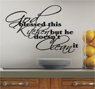God Blessed This Kitchen Wall Decals