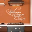 God Blessed This Kitchen | Wall Decals