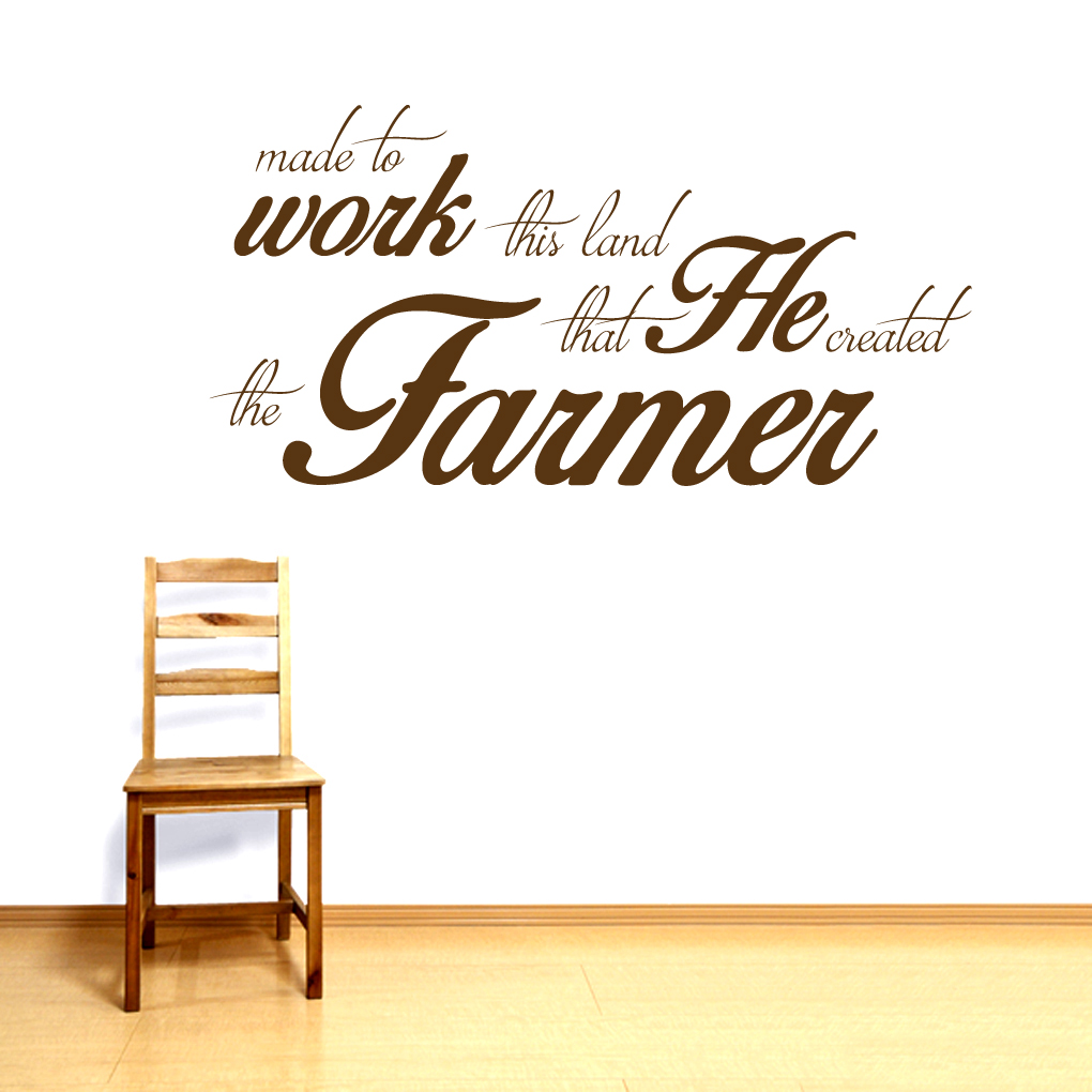 farming wall decals quotes