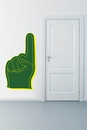 Green and Yellow Foam Finger | Printed Wall Decals