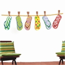 Hanging Flip Flops | Printed Wall Decals