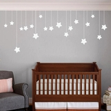 Hanging Stars - Wall Decals