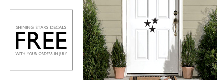 FREE Stars Wall Decals in July