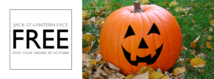 FREE Jack-O'-Lantern Face Wall Decal in October