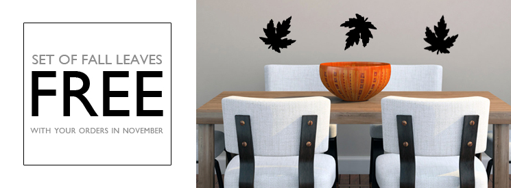 FREE Leaves Wall Decals In November!