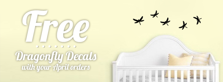 FREE Wall Decals in April!