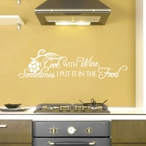 I Cook With Wine - Wall Decals