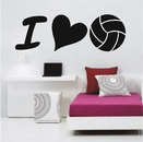 I Love Volleyball | Wall Decals