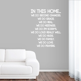 IN THIS HOME... - Wall Decals