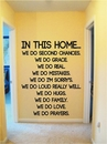 IN THIS HOME... | Wall Decals