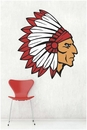 Indian Chief School Mascot | Printed Wall Decals