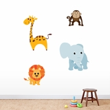 Jungle Animals - Printed Wall Decals