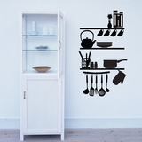 Kitchen Shelves Utensils - Wall Decals