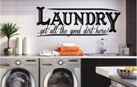 LAUNDRY | get all the good dirt here! | Wall Decals