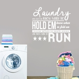 Laundry - Know When To Run - Wall Decals